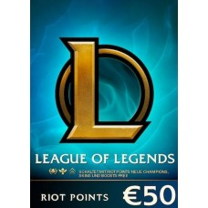 League of Legends €50 Gift Card Key – 7200 Riot Points EU WEST Server Only